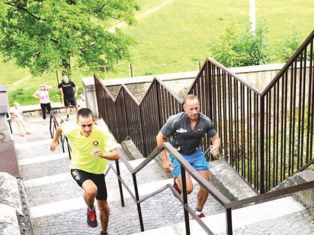 Běh do zámeckých schodů patří už k tradicím Odřivousových slavností, neboli Dne města Bílovec.