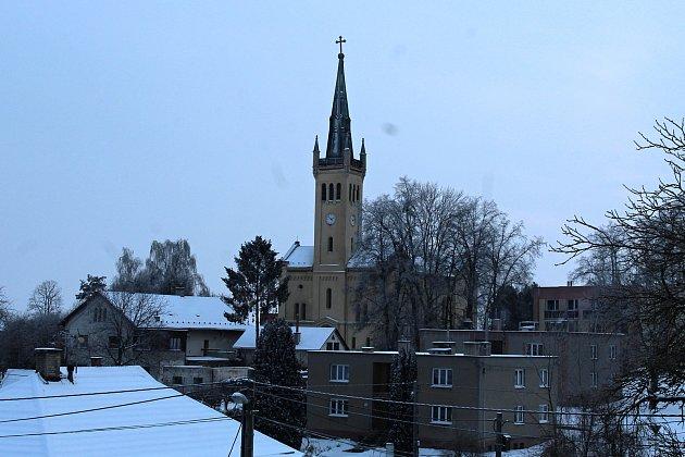 Evangelický kostel vSuchdole nad Odrou, kde byla dlouho schována socha císaře Josefa II.