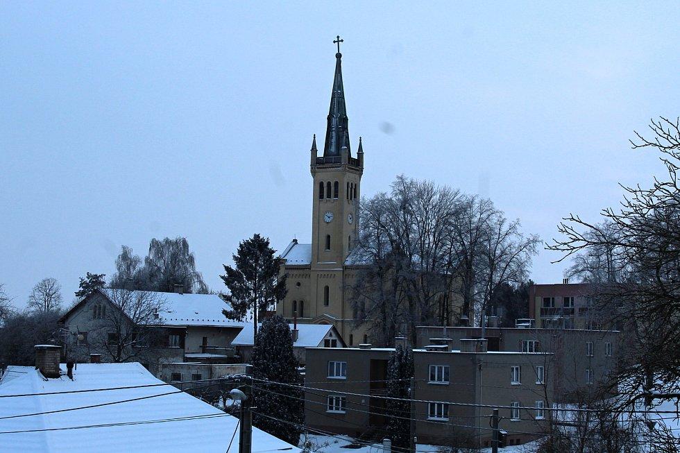 Evangelický kostel v Suchdole nad Odrou, kde byla dlouho schována socha císaře Josefa II.