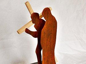 Tak vypadá vítězný model architektů Terezy Hozové a Davida Grabce z Bílovce. Jednotlivá zastavení křížové cesty budou vytvořena z kovu v kombinaci s betonem.