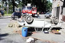 V pátek 9. července nedání přednosti na křižovatce v Lichnově zapřičinilo srážku dvou osobních vozidel.