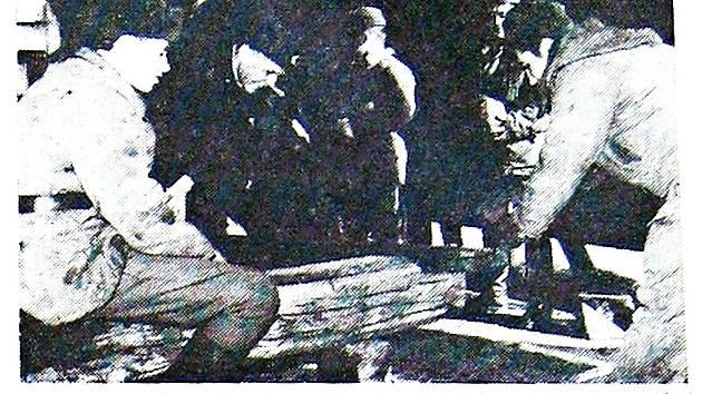 Snímek z frenštátské posádky sovětských vojsk, která se začala připravovat na odchod.