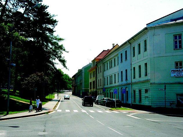 Dolní část ulice Tyršova v Novém Jičíně.