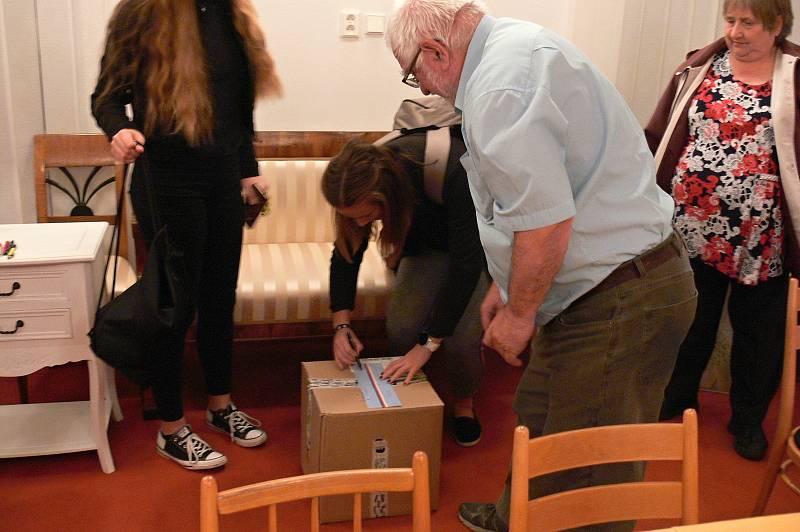 Sněmovní volby ve Spálově na Novojičínsku, 8. října 2021.