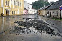 Fulnekem se prohnala povodeň 2. července.