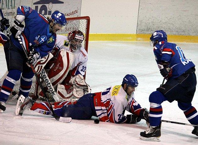 Hokejisté Nového Jičína po vyrovnaném utkání podlehli Karviné.