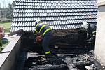 V Hladkých Životicích hořel dům, škoda je okolo 400 tisíc.