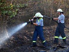 Zásah hasičů u požáru.