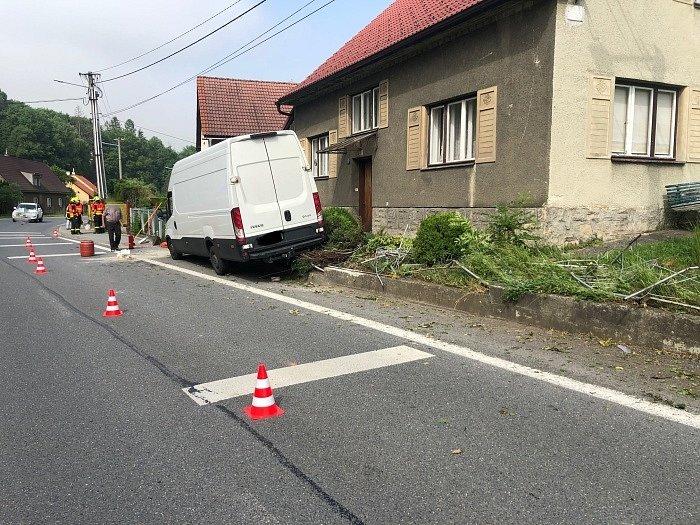 Nehoda dodávky v Tiché, čtvrtek 24. června 2021.