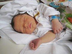 Alex Nevrkla z Kopřivnice, nar. 19. 12. 2010, 49 cm, 3,14 kg, nemocnice Nový Jičín