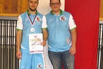 Tichavští zápasníci Martin Šoukal (vlevo) a Václav Petr na mistrovství ČR ve Vítkovicích.