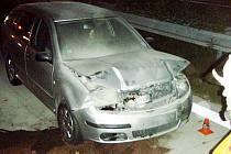 Srnka způsobila nehodu na dálnici D1 u Bravantic