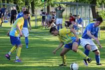 Petřvald na Moravě (v modrém) utrpěl druhou domácí porážku v sezoně.