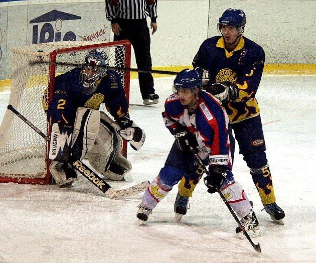 Hokejisté B týmu Nového Jičína posledhli Krnovu až v samém závěru utkání.