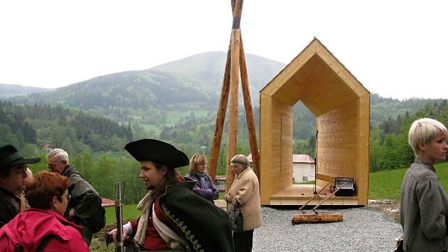 Zvonička Strážce Beskyd na Horečkách v Trojanovicích byla oficiálně otevřená 15. května 2010. Požehnal jí tehdy frenštátský farář Rudolf Swienczek.