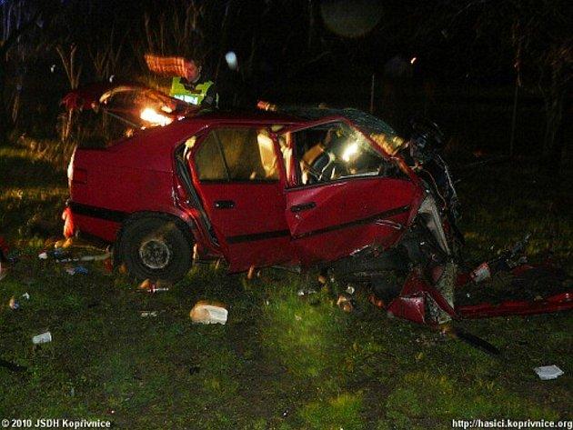 Tragická nehoda v Kopřivnici-Lubině.