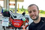 Filip Tomášek ujel na babettě už okolo 2000 kilometrů a momentálně je v Rusku.