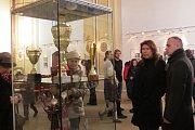 Vernisáž výstavy Trofeje Petry Kvitové tam zahájila sama fulnecká rodačka.