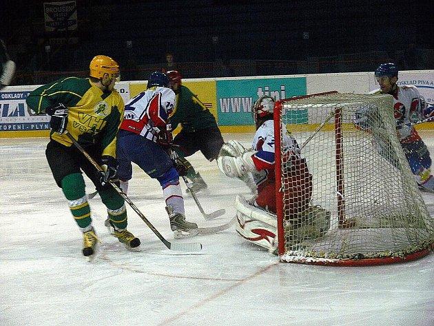Hokejisté Nového Jičína podlehli v dohrávce 33. kola doma Vsetínu.