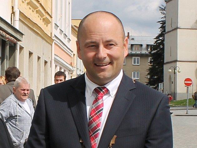 Starosta Bílovce Petr Klimek.