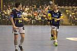 Vysoká porážka. Kopřivnici nepomohlo ani pět gólů Jana Hanuse (vlevo) a dvě branky Patrika Fulneka.