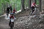 O první trail v Beskydech byl u cyklistů velký zájem.