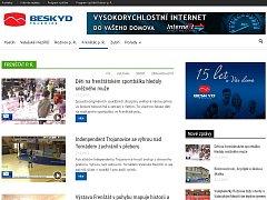 Webová stránka TV BESKYD. Ilustrační foto.
