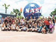 Sbor Ondrášek v zábavním parku Sea World na Floridě. Všichni si návštěvu moc užili.