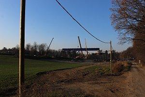 Výstavba mostu na Novojičínsku
