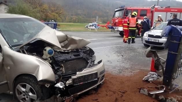 Nehoda v Jakubčovicích nad Odrou na Novojičínsku.