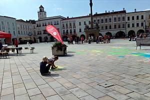 Akce Křída 2019 se uskutečnila v pátek 13. září na novojičínském Masarykově náměstí.