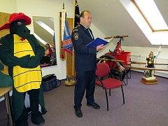 Také ve stanici v Novém Jičíně se krajští hasiči zúčastnili Prvního čtení hasičských pohádek pro školáky.