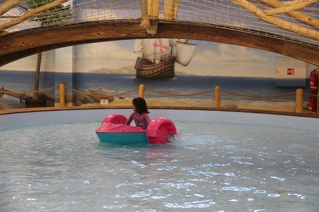 Snímek z velkého dětského centra Krokodýlek, otevřeného v bývalé tovární hale v Olomouci. Ilustrační foto..