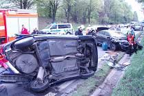 Vážná nehoda u Libhoště.