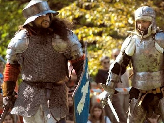 BITVY MEZI KŘESŤANY A POHANY se zúčastnilo přibližně sto bojovníků.