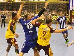 Házenkáři pražské Dukly oplatili Kopřivnici porážku z prvního vzájemné utkání v sezoně.