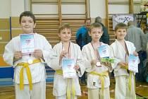 Vydařená premiéra. Mladí judisté zpod trúby si z prvního turnaje přivezli sbírku medailí.