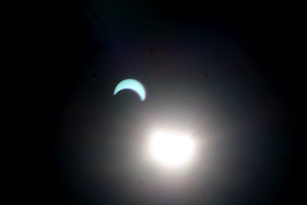 Zatmění Slunce v Novém Jičíně.