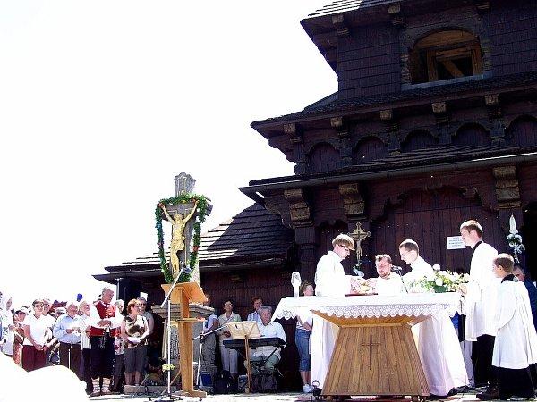 Kaple Cyrila a Metoděje je každoročně včervenci místem oslav připomínajících tyto věrozvěsty.