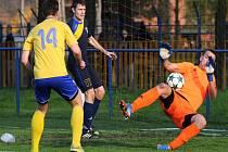 Fotbalisté Frenštátu prohráli se Starou Bělou, která skórovala dvakrát z pokutového kopu.