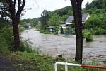 Následky přívalových dešťů na Novojičínsku. Žilina