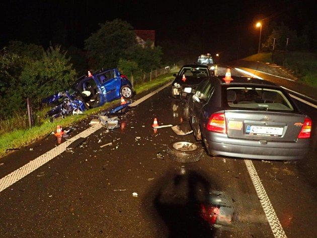 Nehoda v Hodslavicích.