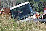 Nehoda autobusu v obci Odry na Novojičínsku.