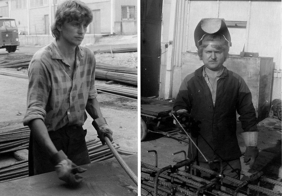 Karel Greiner pracoval na Dole Frenštát na výrobě armokošů.