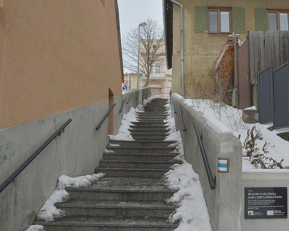 Městské schody.