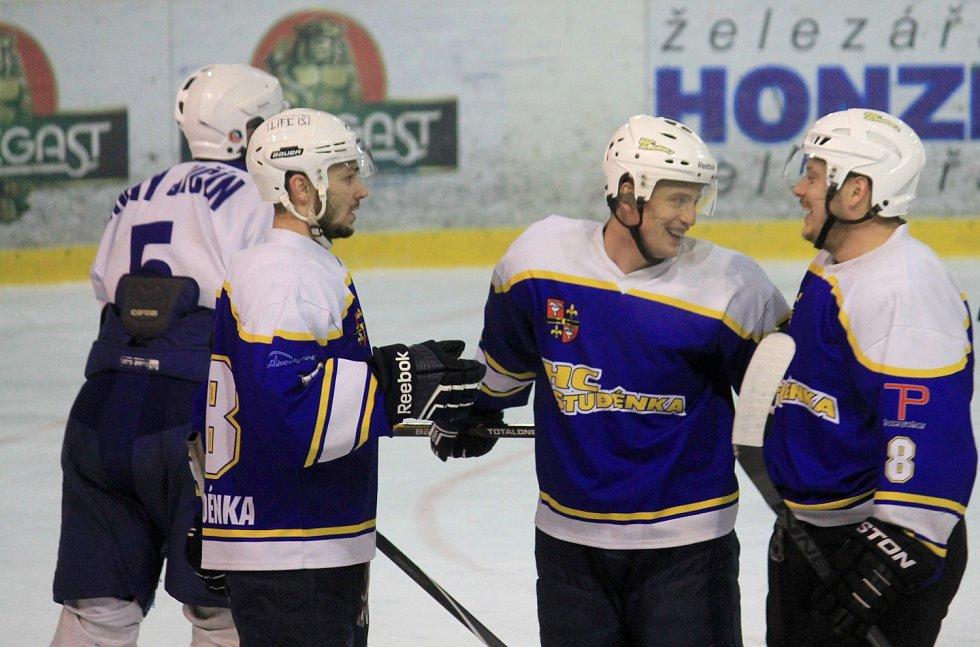 Čtvrté derby letošního ročníku krajské ligy - 27. kolo: HK Nový Jičín B – HC Studénka (0:9)