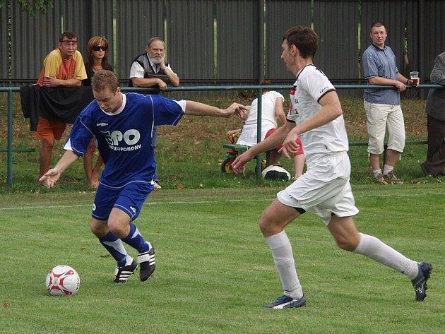 Fotbalisté Frenštátu pod Radhoštěm, hrající Moravskoslezskou divizi, skupinu E, nastoupí již dnes v Bystřici pod Hostýnem k úvodnímu utkání sezony 2008/2009. Ilustrační foto.