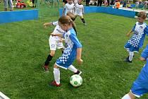 Fotbalové finále Ligy mistrů starších a mladších přípravek začalo v sobotu 26. června 2021 ve sportovním areálu v Jakubčovicích nad Odrou.