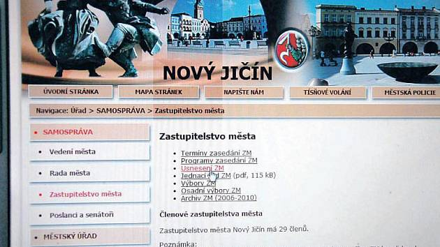 Internetové stránky Nového Jičína (www.novy-jicin.cz)