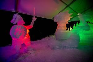 Ledové sochy na Pustevnách, 11. ledna 2019.